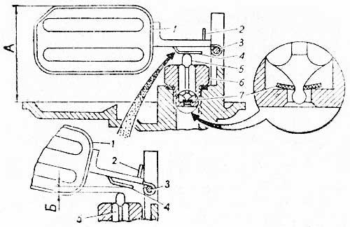 Поплавковый механизм карбюратора К-135