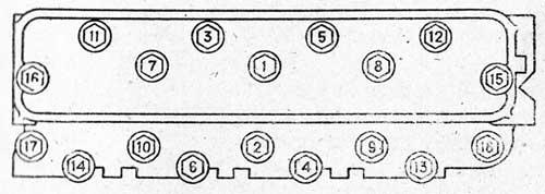 Порядок затяжки гаек головки цилиндров