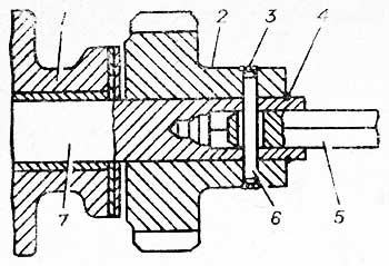 Привод датчика-распределителя зажигания и масляного насоса
