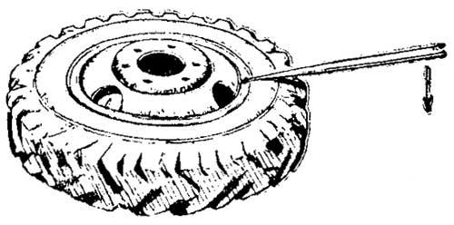 Снятие бортового кольца